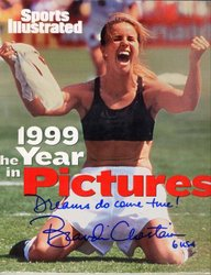 Brandi Chastain, photographed by Robert Beck
