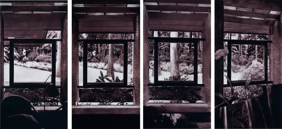 Rebecca Chamberlain, Squared Views Arrangement Screen, Zimmerman House, Wright, 1950, 2013. Photographed by Carly Gaebe